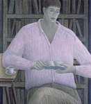 Man Reading, 1998 (oil on canvas) Fine Art Print by William Matthew Prior