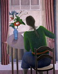 Woman at Window, 1998 (oil on canvas) Fine Art Print by Ruth Addinall
