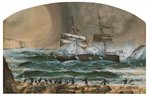 Wreck of the 'Star of Greece', c.1888 Poster Art Print by Alexander Nasmyth