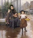 The Pinch of Poverty, 1889 Wall Art & Canvas Prints by Peter Miller