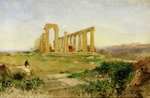 Temple of Agrigento Wall Art & Canvas Prints by Thomas Hearne