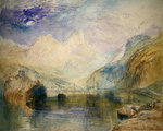 The Lauerzersee with Schwyz and the Mythen Fine Art Print by Baron Louis Albert Bacler d'Albe