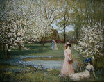 The Howe in Spring Poster Art Print by Haynes King
