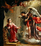 The Annunciation Wall Art & Canvas Prints by Luca Giordano