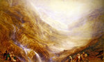 Descent of Mount St. Gothard Fine Art Print by Harry John Johnson