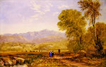 View of Snowdon, Capel Curig Fine Art Print by David Cox