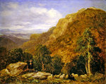 A View from above Bettws-y-Coed, Moel Siabod and the Snowdon Range in the Distance, 1853 Fine Art Print by Tim Scott Bolton
