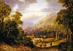 Ambelside, 1829 Postcards, Greetings Cards, Art Prints, Canvas, Framed Pictures, T-shirts & Wall Art by Mathias Gabriel Lory