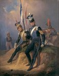 Polish Officers of the Napoleonic Army, 1852 Wall Art & Canvas Prints by French School