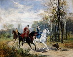 Riding, 1879 Fine Art Print by Jacob Isaaksz. or Isaacksz. van Ruisdael