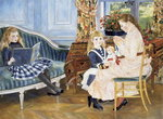 Children's Afternoon at Wargemont, 1884 Fine Art Print by Berthe Morisot