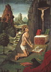 Saint Jerome Penitent, c.1490 Postcards, Greetings Cards, Art Prints, Canvas, Framed Pictures, T-shirts & Wall Art by Jean Bernard Restout