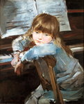 Girl before the Piano, late c19th Fine Art Print by Patricia Espir