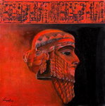 Head of a Ruler, Sargon the Akkadian Fine Art Print by Firyal Al-Adhamy