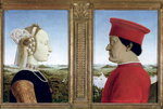 Portraits of Duke Federico da Montefeltro Fine Art Print by English School