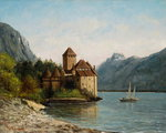 The Castle of Chillon, Evening, c.1872 Fine Art Print by Philip James Loutherbourg