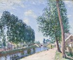 The Loing Canal at Moiret, c.1892 Fine Art Print by Camille Pissarro