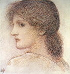 A Study of a Woman's Head, Turned to the Left, 1868 Wall Art & Canvas Prints by Evelyn De Morgan