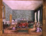 The Drawing Room at Meesdenbury, f13 from An Album of Interiors, 1843 Fine Art Print by William Henry Hunt