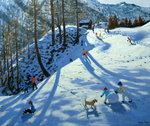 Large Snowball, Zermatt (oil on canvas) Wall Art & Canvas Prints by Andrew Macara