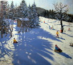 Mountain hut, Morzine Fine Art Print by Andrew Macara