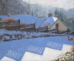 Fence Shadows, 2009 Fine Art Print by Alfred Sisley