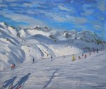 Mountain Tops, Tignes, 2009 Fine Art Print by Florence Hardy