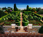 Italian Garden, 1987 (acrylic on board)