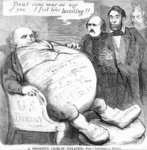 'A Frightful Case of Inflation', c.1863 Poster Art Print by American School