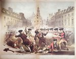 Death of Crispus Attucks at the Boston Massacre, 5th March, 1770, 1856 Fine Art Print by Richard Caton Woodville