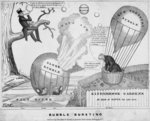 Bubble bursting, published by John Childs, New York and Washington DC, c.1840, Fine Art Print by American School