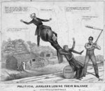 Political jugglers losing their balance, published by J Childs, New York, 1840 Fine Art Print by American School