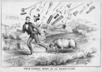 Polk versus wool, or, The Harry-cane, published by H R Robinson, New York, 1844 Wall Art & Canvas Prints by American School