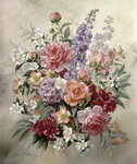 A High Summer Bouquet (oil on canvas)d Postcards, Greetings Cards, Art Prints, Canvas, Framed Pictures, T-shirts & Wall Art by Balthasar van der Ast