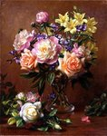 Flowers tell what Words can never Speak so Well (oil on canvas) Wall Art & Canvas Prints by Ignace Henri Jean Fantin-Latour
