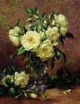 White Roses, A Gift from the Heart (oil on canvas) Fine Art Print by Ignace Henri Jean Fantin-Latour