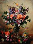 Flowers that Say All (oil on canvas) Fine Art Print by Ignace Henri Jean Fantin-Latour