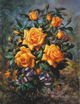 Golden Jubilee (Rose), from the 'Golden Jubilee' series, 2002 (oil on canvas) Wall Art & Canvas Prints by Albert Williams
