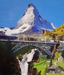Findelnbach-Viadukt, 2006 Postcards, Greetings Cards, Art Prints, Canvas, Framed Pictures, T-shirts & Wall Art by Albert Goodwin