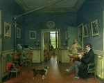 Interior of a Dining Room, 1816 (oil on canvas) (see 113187 for detail) Wall Art & Canvas Prints by Vilhelm Hammershoi