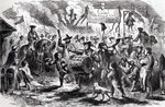 The Stamp Act Riots at Boston, 25th August 1765, from 'Youth's History of the United States' by Ellis (engraving) (b&w photo)