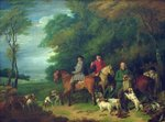 The Return from Shooting, 18th century Fine Art Print by Philip Reinagle