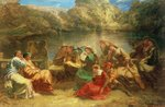 The Seventh day of the Decameron Wall Art & Canvas Prints by Peter Paul Rubens
