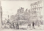 Riots in the West End of London: Mob in St. James's Street, Opposite the New University Club, from 'The Illustrated London News', 13th February 1886 (engraving) Wall Art & Canvas Prints by American School