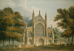 Winchester Cathedral: The Facade from the North-West, 1801 (watercolour)