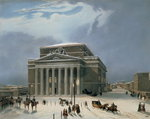 The Bolshoi Theatre in Moscow, printed by Lemercier, Paris, 1840s (colour litho) Wall Art & Canvas Prints by Nikolai Egorevich Sverchkov