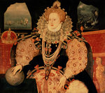 Elizabeth I, Armada portrait, c.1588 Poster Art Print by Joseph Wright of Derby