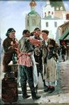 Kvass Seller, 1879 (oil on canvas) Fine Art Print by Antoine Charles Horace Vernet