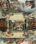 Sistine Chapel Ceiling (1508-12): The Sacrifice of Noah, 1508-10 (fresco) (post restoration) Postcards, Greetings Cards, Art Prints, Canvas, Framed Pictures, T-shirts & Wall Art by Michelangelo Buonarroti