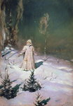 Snow Maiden, 1899 (oil on canvas) Wall Art & Canvas Prints by Evangeline Dickson